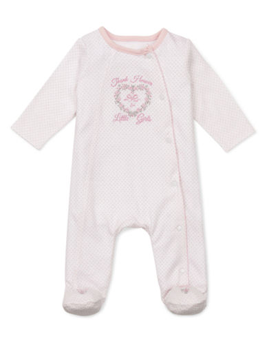 Little Me Infant Girls Thanks Footie-LIGHT PINK-6 Months