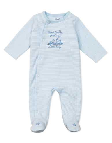 Little Me Infant Boys Thanks Footie-WHITE-6 Months