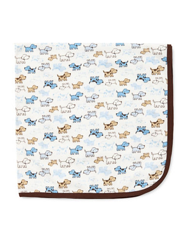 Little Me Cute Puppies Blanket-WHITE-One Size