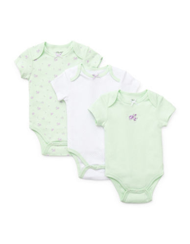 Little Me Three-Pack Petit Rose Bodysuits-AMBROSIA-9 Months