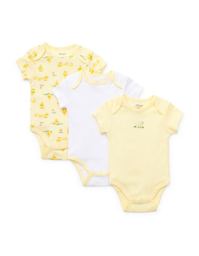 Little Me Three-Pack Little Chicks Bodysuits-YELLOW-9 Months