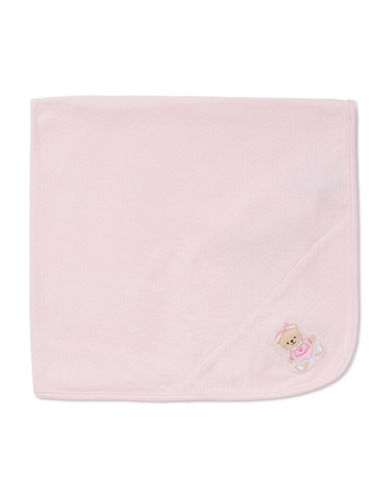 Little Me Sweet Bear Blanket-PINK-One Size