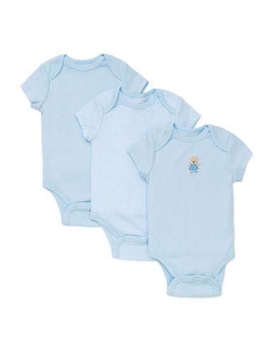 Little Me Three-Pack Cute Bear Bodysuits-BLUE-3 Months