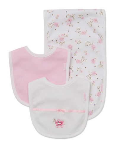Little Me Three-Piece Rose Bib Set-ROSE-One Size