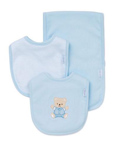Little Me Three-Piece Tuxedo Teddy Bib Set-BLUE-One Size 88413364_BLUE_One Size