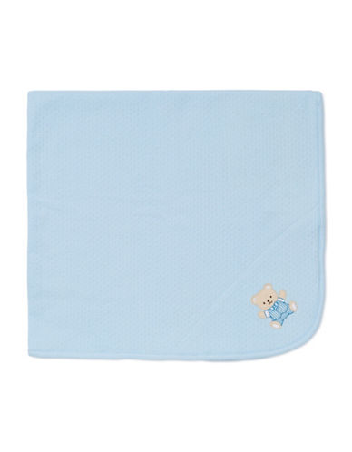Little Me Cute Bear Blanket-BLUE-One Size