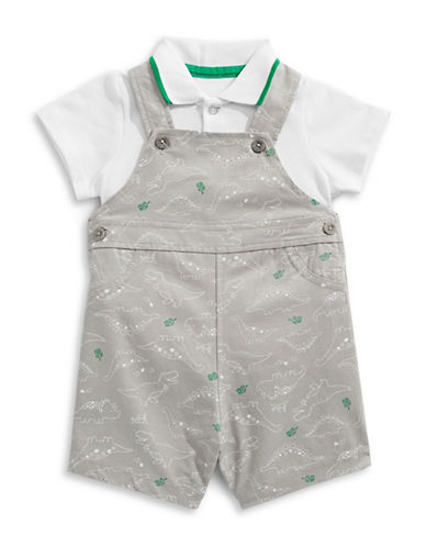 Little Me Dino Shortall Set-GREY-6 Months