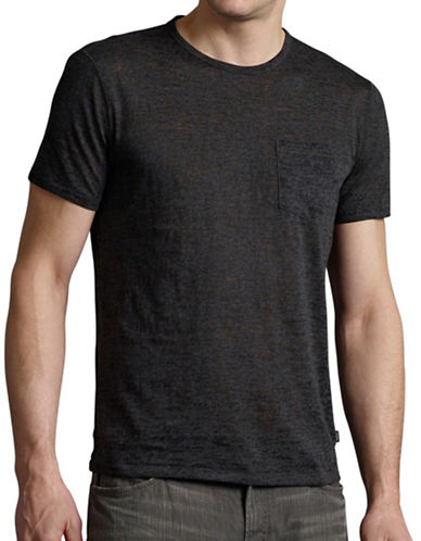 John Varvatos Star U.S.A. Short Sleeve Burnout Tee-CHARCOAL-XX-Large