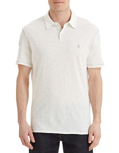 John Varvatos Star U.S.A. Short Sleeve Slub Knit Polo-SALT-Large