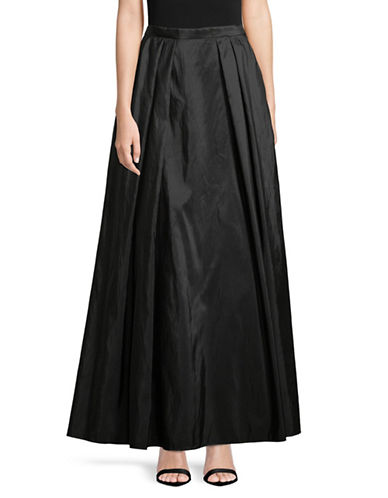 Alex Evenings Long Full Taffeta Skirt-BLACK-Large