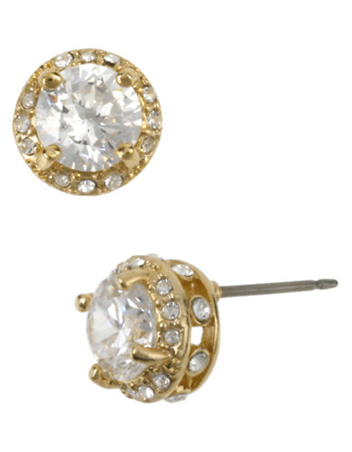 Betsey Johnson Small Crystal Stud Earring-CRYSTAL-One Size