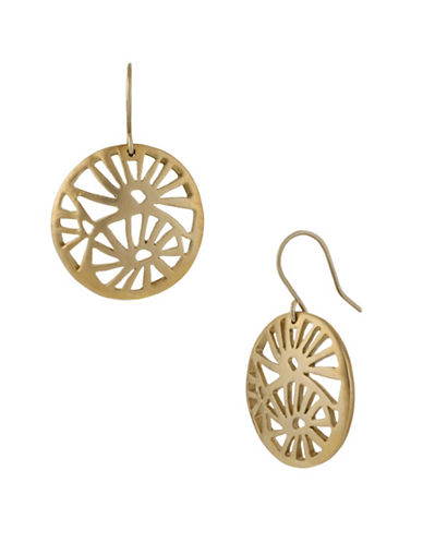 Kenneth Cole New York Round Filigree Drop Earring-GOLD-One Size
