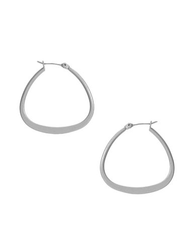 Kenneth Cole New York Silver Teardrop Hoop Earring-SILVER-One Size