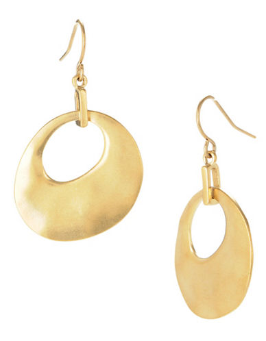 Kenneth Cole New York Circle Drop Earring-GOLD-One Size