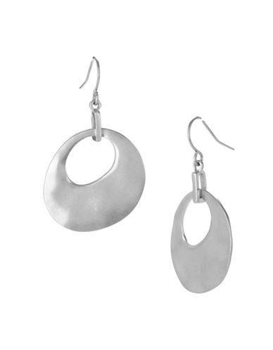 Kenneth Cole New York Silver Organic Drop Earring-SILVER-One Size