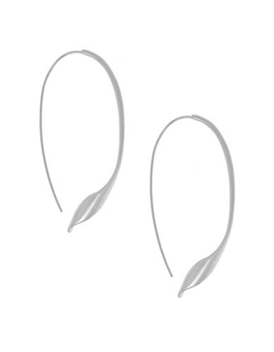 Kenneth Cole New York Silver Twist Pull Thru Earring-SILVER-One Size