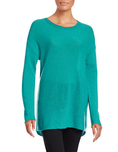 Ply Cashmere Linear Cashmere Sweater-LIGHT TURQUOISE-Large plus size,  plus size fashion plus size appare