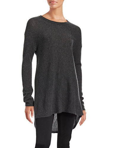 Ply Cashmere Linear Cashmere Sweater-CHALKBOARD-Small plus size,  plus size fashion plus size appare