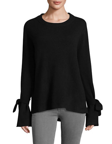 Ply Cashmere Cashmere Crew Neck Sweater-BLACK-X-Large