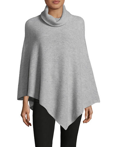 Ply Cashmere Cashmere Turtleneck Poncho-GREY-One Size