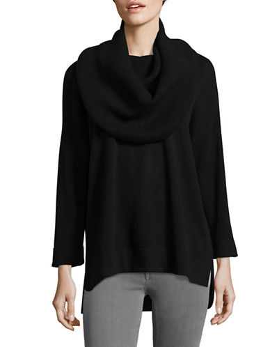 Ply Cashmere Off-Shoulder Cashmere Sweater-BLACK-Large