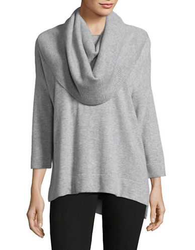 Ply Cashmere Off-Shoulder Cashmere Sweater-LIGHT GREY HEATHER-Small