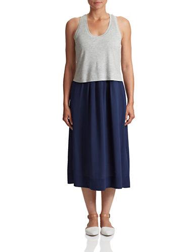 Rebecca Taylor Colourblock Silk Tank Dress-GREY-X-Small 87600768_GREY_X-Small
