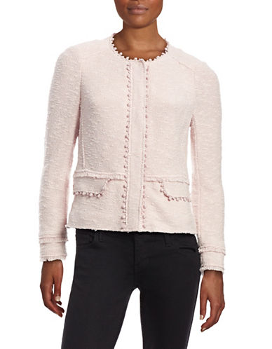 Rebecca Taylor Boucle Cropped Jacket-VANILLA-8