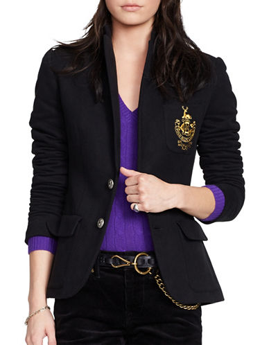 Polo Ralph Lauren Custom Fit Fleece Blazer-BLACK-8