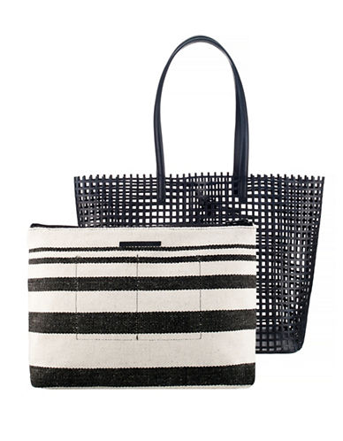 Loeffler Randall Leather Beach Tote-BLACK-One Size 88175461_BLACK_One Size