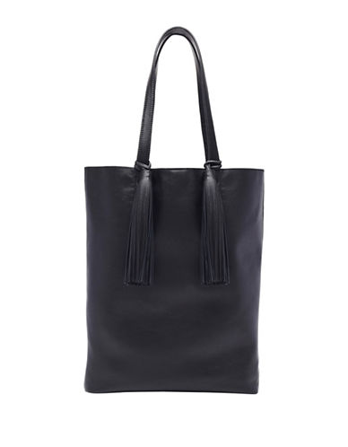 Loeffler Randall Cruise Tassle Leather Tote Bag-BLACK-One Size