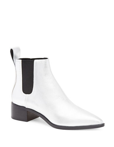 Loeffler Randall Nellie Leather Chelsea Boots-SILVER-EUR 37.5/US 7.5
