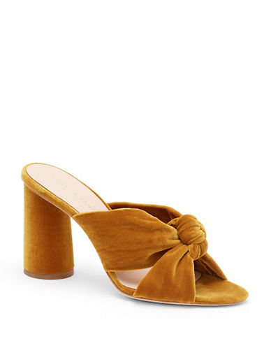 Loeffler Randall Coco High Heel Knotted Sandals-MARIGOLD-6