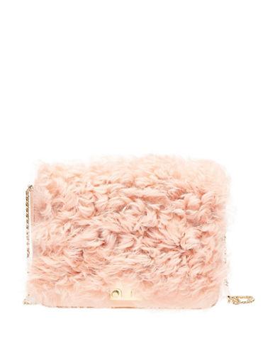 Loeffler Randall Shearling Shoulder Bag-PINK-One Size