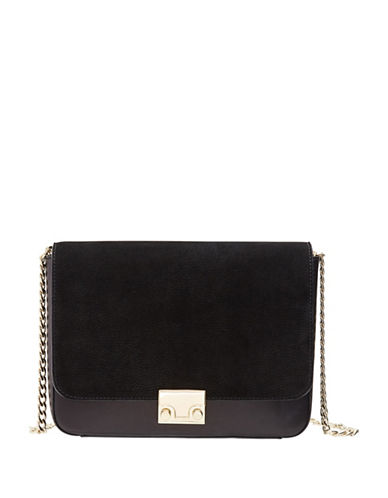 Loeffler Randall Lock Crossbody Bag-BLACK-One Size