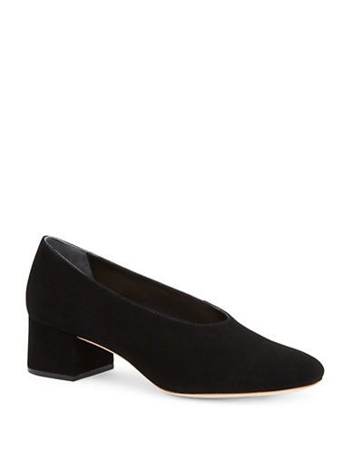 Loeffler Randall Brooks Suede Pumps-BLACK-EUR 37.5/US 7.5