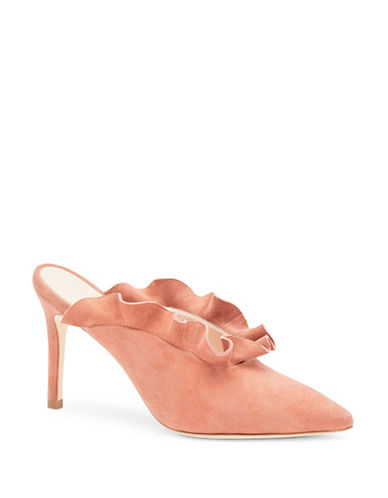 Loeffler Randall Langley Ruffle Suede Pumps-DUSTY ROSE-EUR 37/US 7