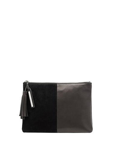 Loeffler Randall Tassel Pouch-BLACK-One Size