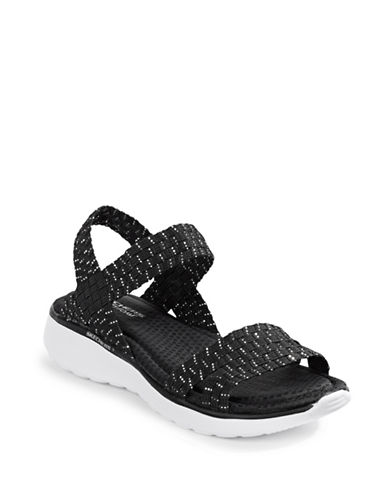 7753c852365d ... UPC 884292431199 product image for Skechers Counterpart Breeze Warped  Wedge Sandals-BLACK-8 ...