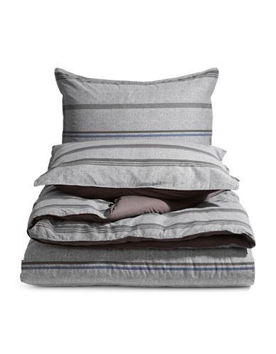 Nautica Three-Piece Comforter Set-GREY-Twin