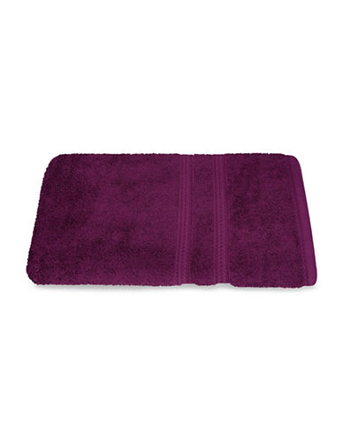 Nautica Seaport Plush Cotton Bath Towel-BURGUNDY-Bath Towel