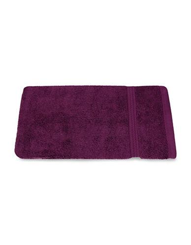 Nautica Seaport Plush Cotton Hand Towel-BURGUNDY-Hand Towel