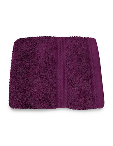 Nautica Seaport Plush Cotton Washcloth-BURGUNDY-Washcloth