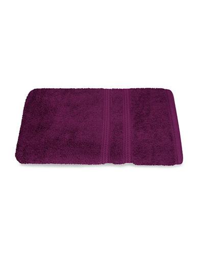Nautica Seaport Plush Cotton Bath Sheet-BURGUNDY-Bath Sheet