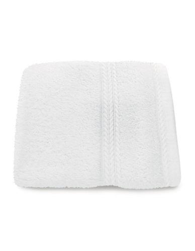 Nautica Seaport Plush Cotton Washcloth-WHITE-Washcloth