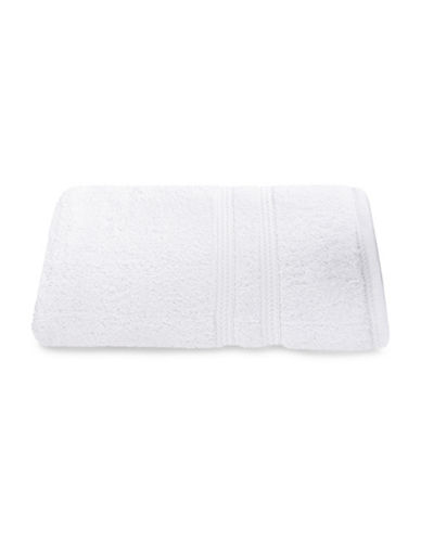Nautica Seaport Plush Cotton Bath Sheet-WHITE-Bath Sheet