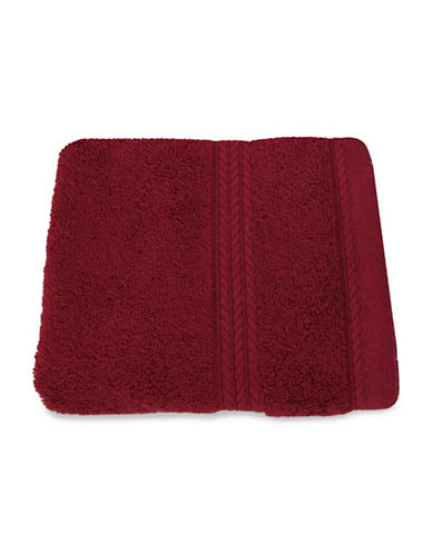 Nautica Seaport Plush Cotton Washcloth-DEEP RED SEA-Washcloth