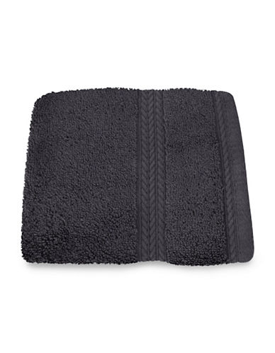 Nautica Seaport Plush Cotton Washcloth-DREDGE GREY-Washcloth