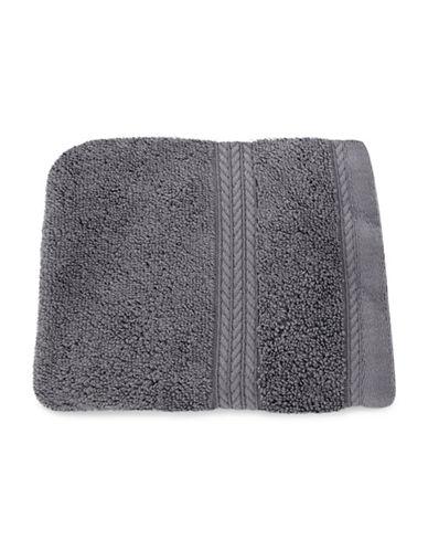 Nautica Seaport Plush Cotton Washcloth-MOORNINGS GREY-Washcloth
