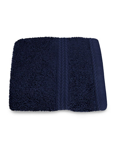 Nautica Seaport Plush Cotton Washcloth-PEACOAT-Washcloth